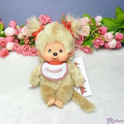 Monchhichi S Size Plush Doll MCC Premium Twin Tail Girl Beige ~~ NEW ARRIVAL ~~