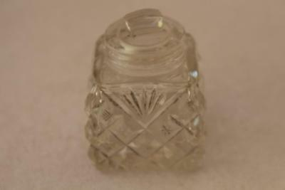 A Vintage Cut Glass Small Bottle / Pot with Stopper