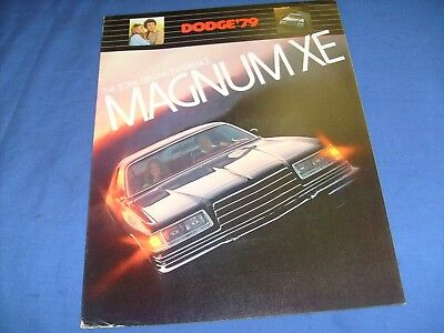 1979 Dodge Magnum XE Catalog Sales Brochure GT Nice Original 79 Car / j4