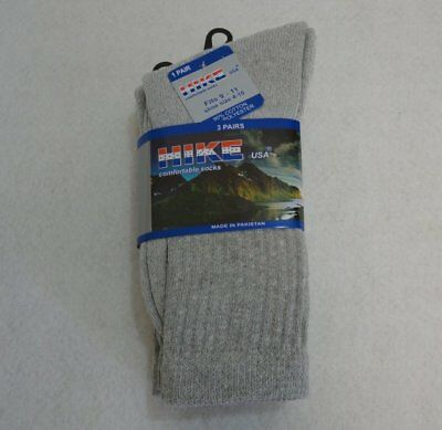 Bulk Lot of 300 Pairs Gray Crew Socks sz 9-11 (shoe size 4.5-7.5)