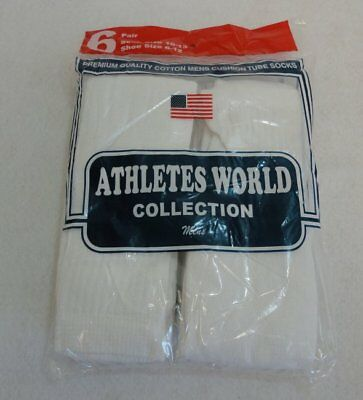 Bulk Lot of 240 Pairs White Mens Sports Tube Socks SIZE 10-13 (shoe size 8-12)