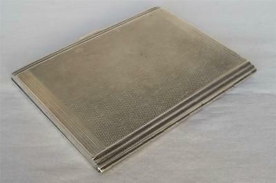 LARGE & HEAVY SOLID STERLING SILVER ART DECO CIGARETTE CASE DATES 1938 185 grams