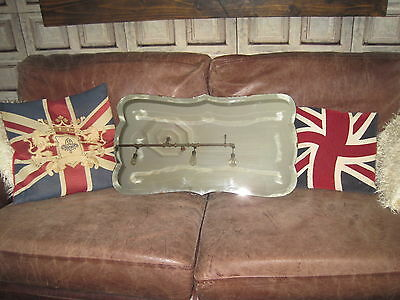 Vintage Art Deco Iconic Frameless Bevelled Edge Hanging Wall Mirror With Chain