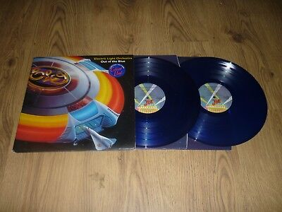 ELECTRIC LIGHT ORCHESTRA - Out of The Blue - UK BLUE VINYL 2 x LP & POSTER