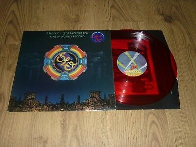 ELECTRIC LIGHT ORCHESTRA - A New World Record - UK RED VINYL LP