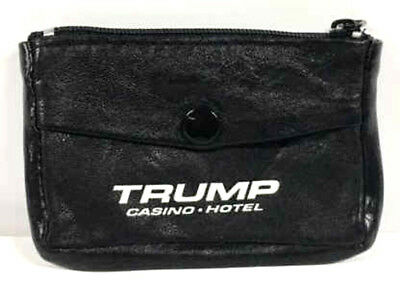 Trump Casino Coin Purse Black with Zippers