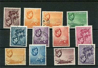 Seychelles.12 -- Fine Used G6 Stamps  On Stockcard