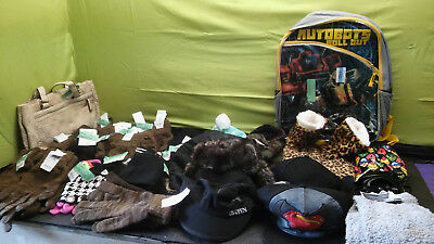 Lot of Assorted Men's 2-pairs Texting Gloves,hats and Kids Book Bag Etc