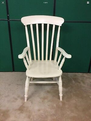 Antique Painted High Back Carver Chair