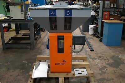 Motan Gravicolor 300 Blender 4 Component 660lbs/hr, 4 Loaders Eac Maguire Conair