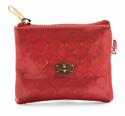 Catseye Coin Purse, Quilted Red