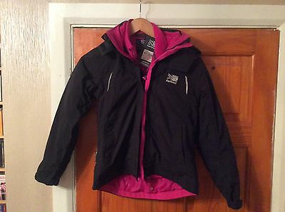 Karrimor Girls Black And Pink Rain Jacket And Fleece Age 9/10Years Bnwt