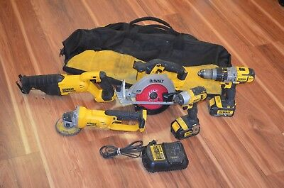 Dewalt 20v Max Lithium Ion 3.0 AH 5 Tool Combo Kit Grinder Drill/Driver Sawzall