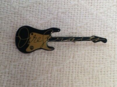 Vintage 1978 DIRE STRAITS promotional guitar pin - VERY GOOD condition