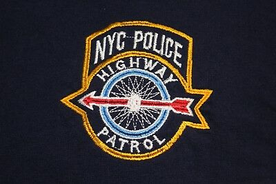 NYPD Highway Patrol New York City Police large blue official t shirt