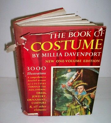 The Book Of Costume  By Millia Davenport New One-Volume Edition