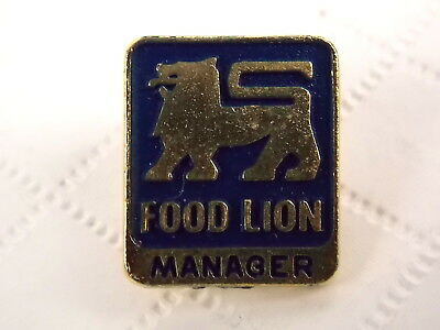 Vintage Food Lion Store Manager Lapel Pin 1990s Issue  #5333