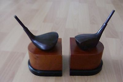 GOLF CLUB BOOKENDS HAND CRAFTED by DECORATIVE CRAFTS