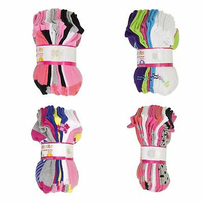 Stride Rite Socks for Girls 8 Pair Cushioned Cotton - Quarters and No Show