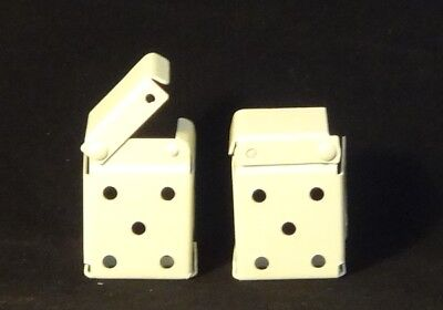 "2 Pair: Mini Blind Bracket for 1"" X 1 1/2"" Headrail (inc. Bali): Metal / Ivory"