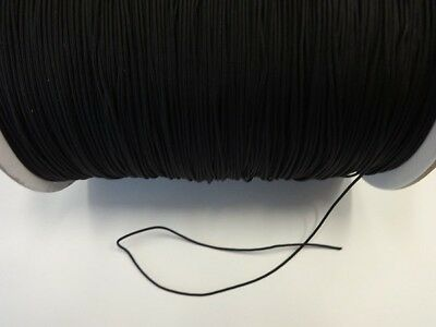 100 FEET: Black 1.8 MM Professional Braided Nylon Lift Cord For Blinds & Shades