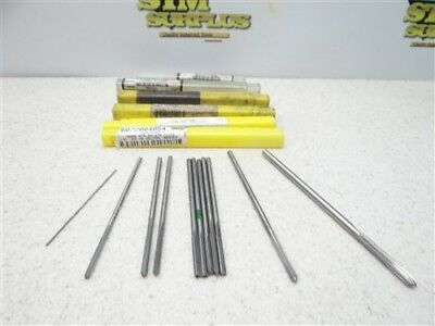"Lot Of 11 Hss Chucking Reamers .0405"" To .1855"" L&i Ap"