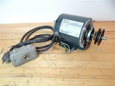General Electric Ac Motor 1725 Rpm 115V Single Phase 1/4 Hp W/ Power Switch