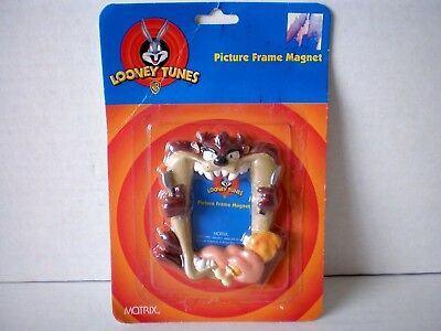 1997 Looney Tunes Taz Picture Frame Refrigerator Magnet In Package Magnetic