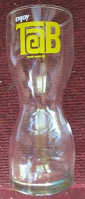 "1970s TAB Diet COLA ""Hourglass"" GLASS TUMBLER....NOS & MINT!!"