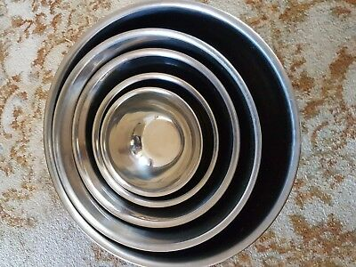 Stainless steel kitchen cooking mixing bowls