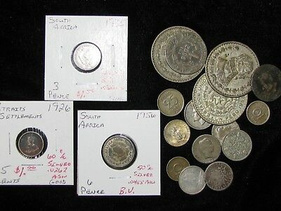 SILVER WORLD COINS ~ 18 Coins ~ World Collection Bulk Lot! #72