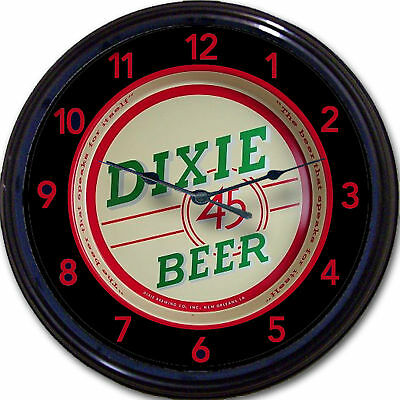 """Dixie 45 Brewing Co New Orleans LA  Beer Tray Wall Clock Ale Lager Brew New 10"""""""