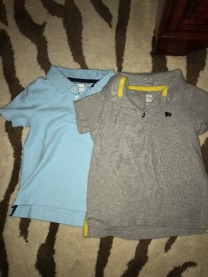 Lot Of 2 Old Navy Boys Toddler Polo Shirts 3T Blue And Grey