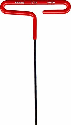 "Eklind 51606 Standard Cushion Grip T-Handle Hex Key 3/32"" x 6"""