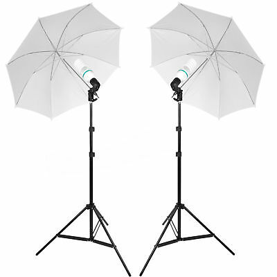 Photo Studio Continuous Lighting 135W Umbrella Light Lamp Photography Stand Kit