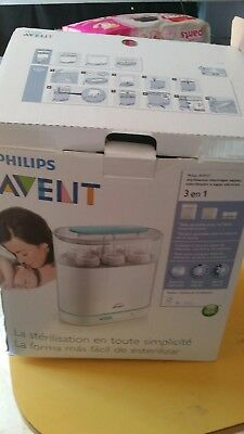 Used Philips Avent 3 in 1 Electric Steam Steriliser works well proven by photos!