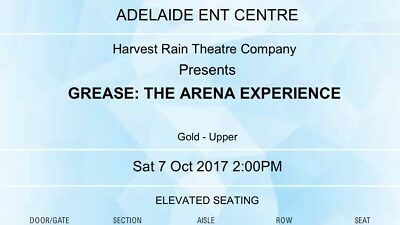 Grease- The Arena Experience Tickets- Adelaide
