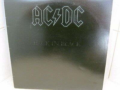 Acdc Back In Black Vinyl Lp 12'' In Near Mint Condition
