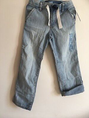 New Gap Boys 5 Years Jeans Blue Straight Fit Loose Authentic  Boy