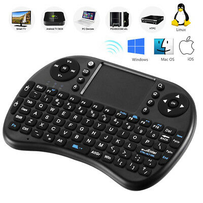 2.4 Mini Wireless Keyboard Qwerty USB Touchpad Fly Air Mouse For Android TV Box