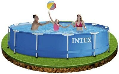 "NEW Intex Metal Frame Round Pool with Filter Pump 12ft x 30"" - Blue"