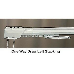 "Superfine Traverse One-Way Draw /Left Curtain Rod (100"" - 180"" ) MPN#3236025"