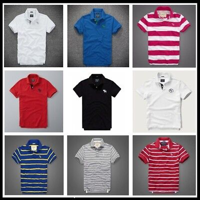 Men's Abercrombie & Fitch by Hollister Polo Shirt A&F Muscle Fit | S M L XL XXL