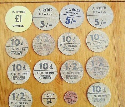 Rare Collection Vintage Fruit Pickers Cardboard Tokens