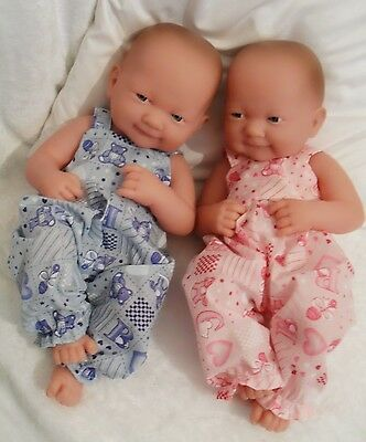 """14"""" Dungarees  Doll Clothes Handmade Fit  First Annabell Berenguer 34-38Cm"""
