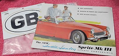Collectors Austin Healey Sprite MK III Sports Convertible Owners Manual
