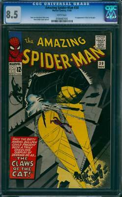 Amazing Spider-Man #  30  The Claws of the Cat !  CGC 8.5  scarce book!