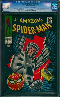 Amazing Spider-Man #  58  To Kill a Spider-Man !  CGC 7.5  scarce book !