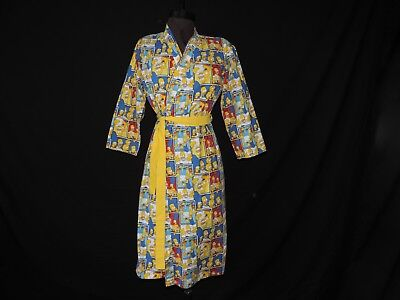 The Simpsons Vintage Robe 1980s Simpsons Family Cartoon Handmade Teen Sleepwear