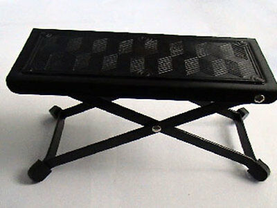 GUITAR FOOT STOOL folding footstool rest acoustic classical practice jam metal